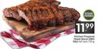 Kitchen Prepared Maple Bacon Bbq Ribs