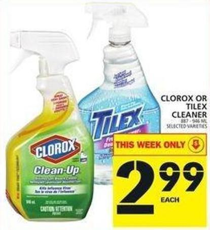 Clorox Or Tilex Cleaner