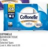 Cottonelle Bathroom Tissue 12 Rolls