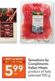 Sensations By Compliments Italian Meats Product of Italy Selected 100 g