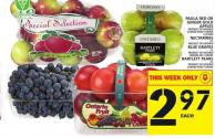 Paula Red Or Ginger Gold Apples Or Nectarines Or Blue Grapes Or Bartlett Pears