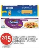 Catelli Garden Select Pasta Sauce (640ml) - De Cecco (454g) or Catelli (340g - 375g) Pasta