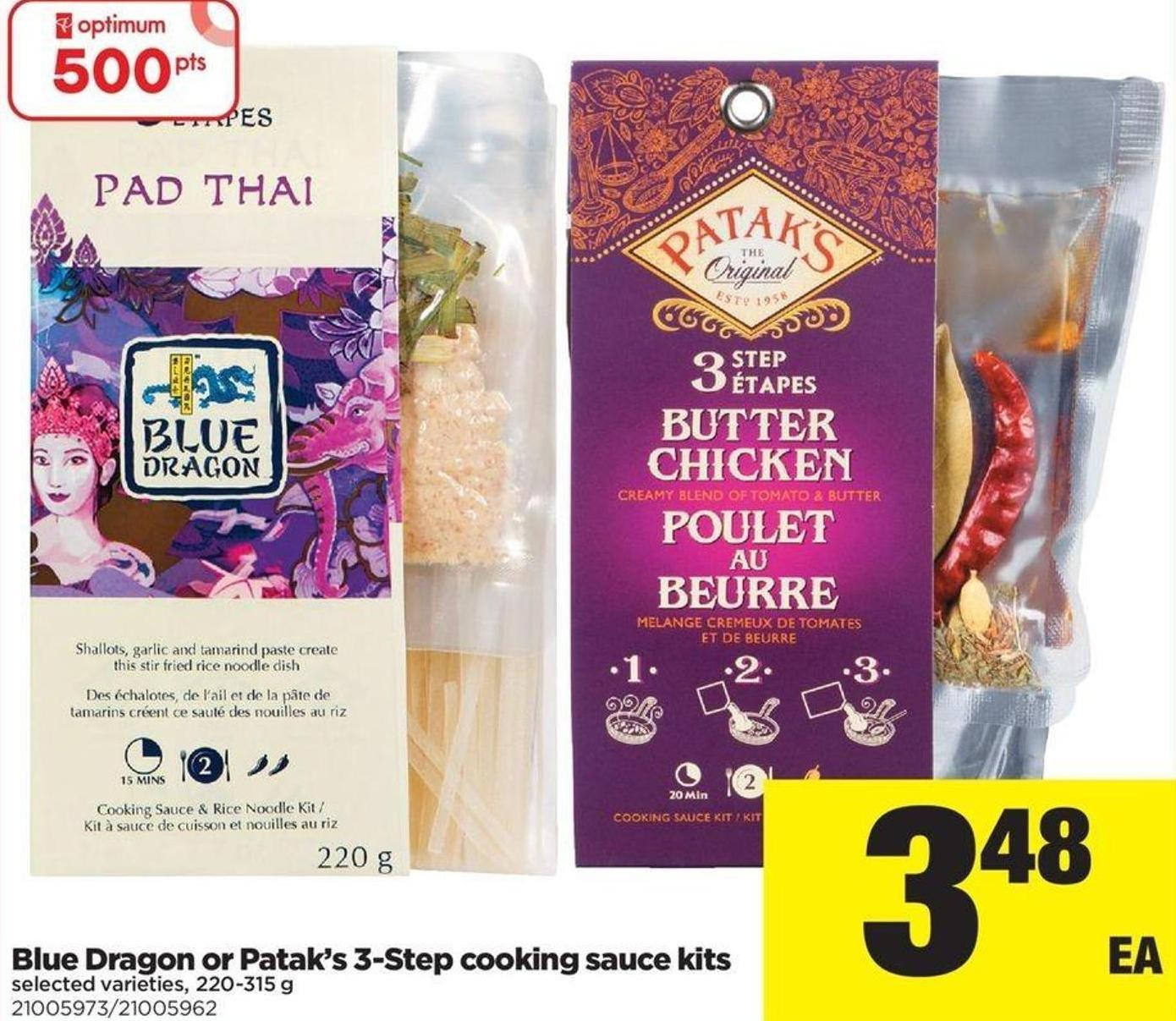 Blue Dragon Or Patak's 3-step Cooking Sauce Kits - 220-315 G