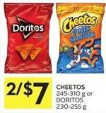 Cheetos 245-310 g or Doritos 230-255 g