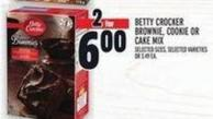 Betty Crocker Brownie - Cookie Or Cake Mix