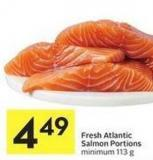Fresh Atlantic Salmon Portions Minimum 113 g