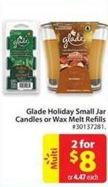 Glade Holiday Small Jar Candles or Wax Melt Refills