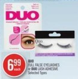 Quo Full False Eyeliashes or Duo Lash Adhesive