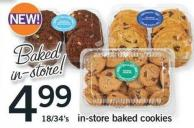 In-store Baked Cookies - 18/34's