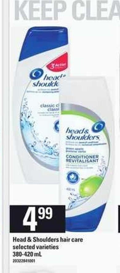 Head & Shoulders Hair Care - 380-420 mL