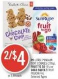 PC Little Penguin Soft Cookies (270g) - Fruit To Go (9's) or Gogo Squeez Fruit Pouch (4's)