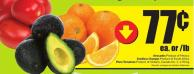 Avocados Product of Mexico Seedless Oranges Product of South Africa Plum Tomatoes Product of Ontario - Canada No. 1 - 1.70/kg