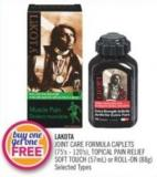 Lakota Joint Care Formula Caplets (75's-120's) - Topical Pain Relief Soft Touch (57ml) or Roll-on (88g)
