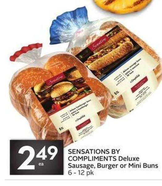 Sensations By Compliments Deluxe Sausage - Burger or Mini Buns