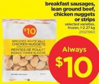 Breakfast Sausages - Lean Ground Beef - Chicken Nuggets Or Strips - 1-2.27 Kg