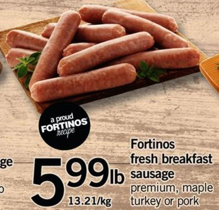 Fortinos Fresh Breakfast Sausage