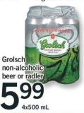 Grolsch Non-alcoholic Beer Or Radler - 4x500 Ml