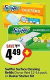 Swiffer Surface Cleaning Refills Dry or Wet 12-16 Pack - or Duster Starter Kit