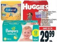 Huggies Or Pampers Diapers - Enfamil - Goodstart Or Similac Baby Milk