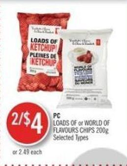 PC Loads Of or World Of Flavours Chips 200g