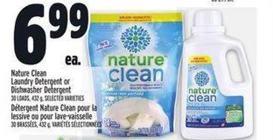 Nature Clean Laundry Detergent Or Dishwasher Detergent