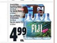 Irresistibles Sparkling Water Or Fiji Spring Water