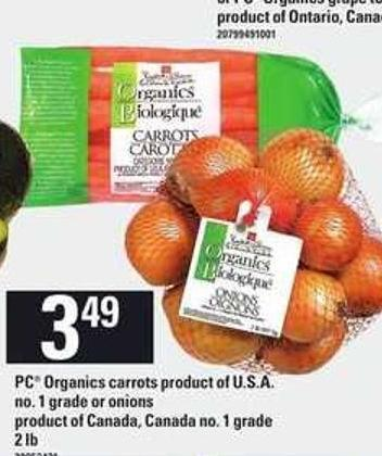 PC Organics Carrots Or Onions - 2 Lb