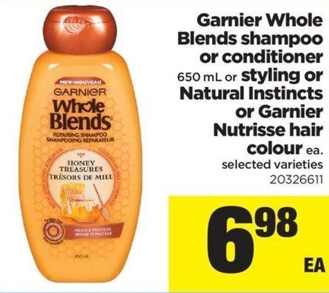 Garnier Whole Blends Shampoo Or Conditioner 650 Ml Or Styling Or Natural Instincts Or Garnier Nutrisse Hair Colour