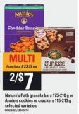 Nature's Path Granola Bars - 175-210 G Or Annie's Cookies Or Crackers - 115-213 G
