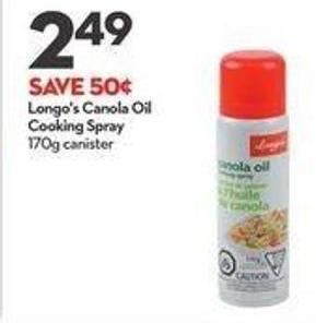 Longo's Canola Oil Cooking Spray