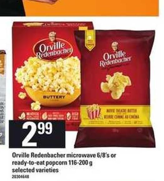 Orville Redenbacher Microwave 6/8's Or Ready-to-eat Popcorn 116-200 G
