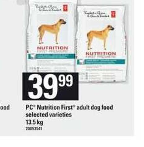 PC Nutrition First Adult Dog Food - 13.5 Kg
