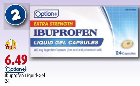 Option+ Ibuprofen Liquid-gel 24