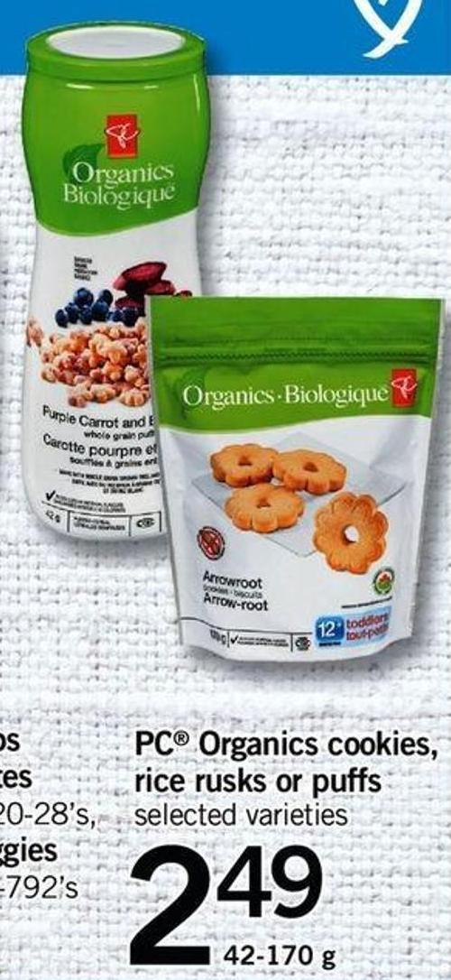 PC Organics Cookies - Rice Rusks Or Puffs