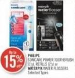 Philips Sonicare Power Toothbrush (1's) - Refills (2's) or Waterpik Water Flossers