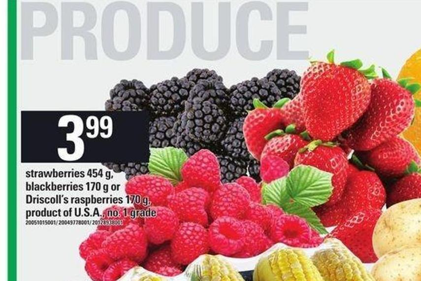 Strawberries 454 G - Blackberries 170 G Or Driscoll's Raspberries 170 G