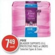 Poise Bladder Support (6's) Protective Pads or Liners