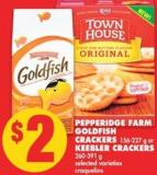 Pepperidge Farm Goldfish Crackers - 156-227 g or Keebler Crackers - 260-391 g