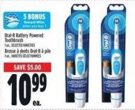 Oral-b Battery Powered Toothbrush