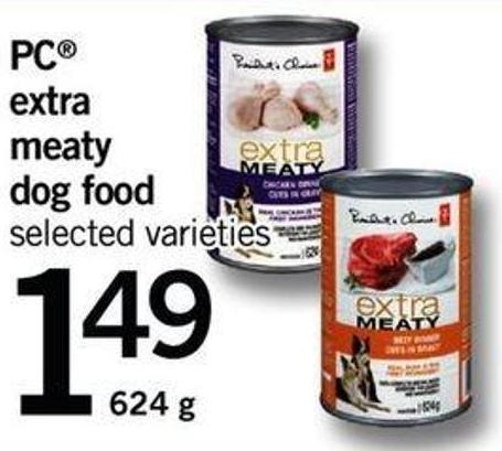 PC Extra Meaty Dog Food - 624 g