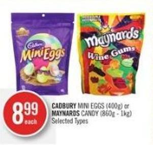 Cadbury Mini Eggs (400g) or Maynards Candy (860g - 1kg)