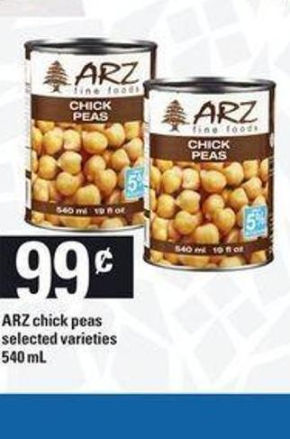 Arz Chick Peas - 540 mL