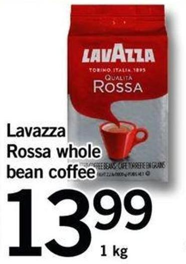 Lavazza Rossa Whole Bean Coffee.1 Kg
