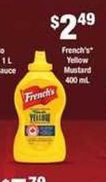 French's Yellow Mustard 400 ml