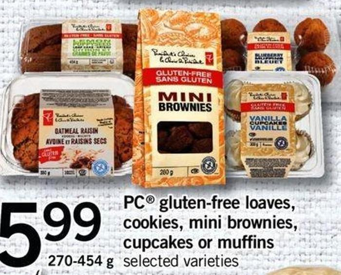 PC Gluten-free Loaves - Cookies - Mini Brownies - Cupcakes Or Muffins - 270-454 G
