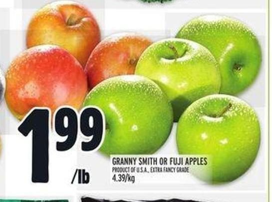 Granny Smith or Fuji Apples