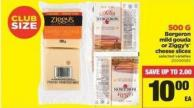 Bergeron Mild Gouda Or Ziggy's Cheese Slices - 500 G
