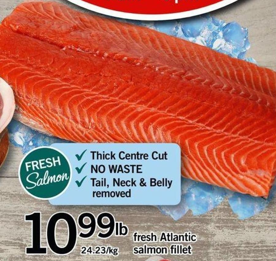 Fresh Atlantic Salmon Fillet 24.23/kg