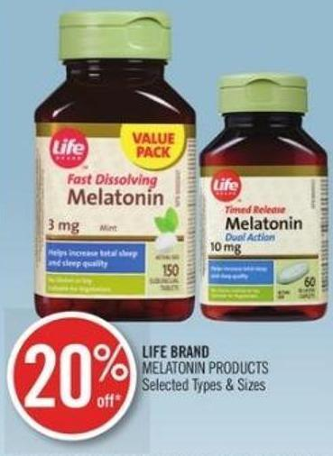 Life Brand Melatonin Products