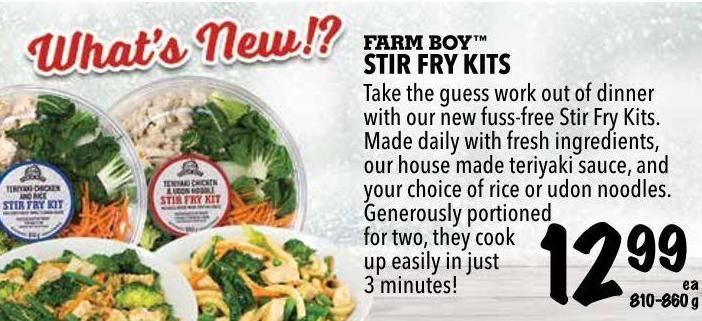 Farm Boy  Stir Fry Kits 810-680 g